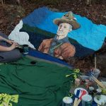 Baden Powell Groove painted by our girl guide and scout groups