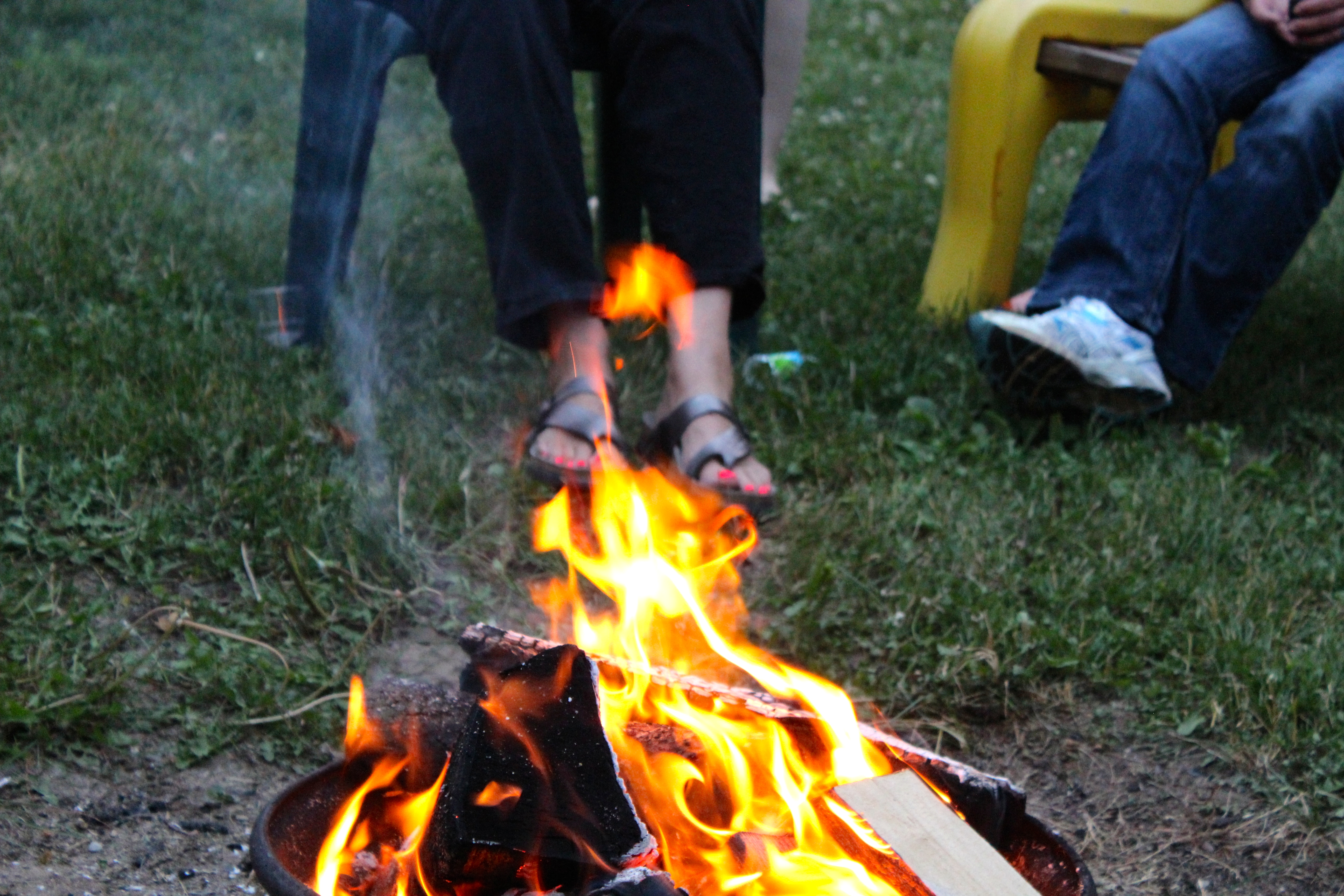 Campfire at the Women's Outdoor Weekend at Gordon's Park on Manitoulin Island