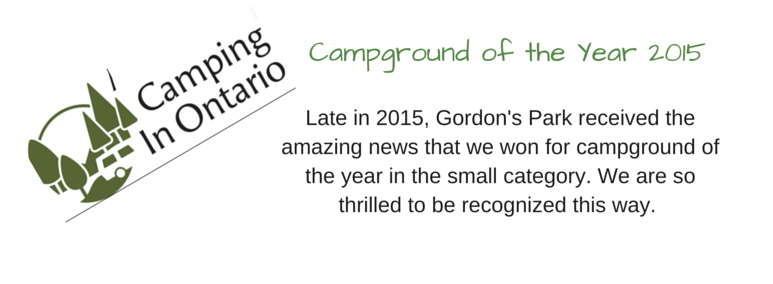 Gordon's Park Campground of the Year Camping in Ontario, media