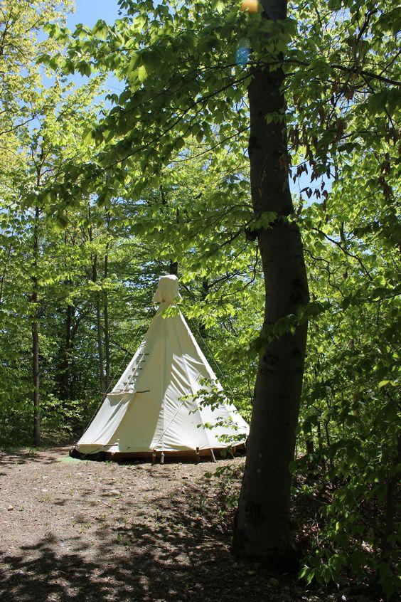 Tipi Tenting at Gordon's Park on Manitoulin Island
