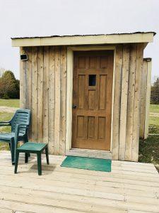 Camping cabins, manitoulin island, cedar wood, dark sky preserve camping,
