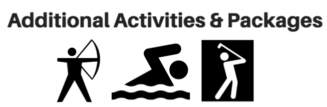 Activities at Gordon's Park at additional cost of a campsite, pool, archery and mini putt