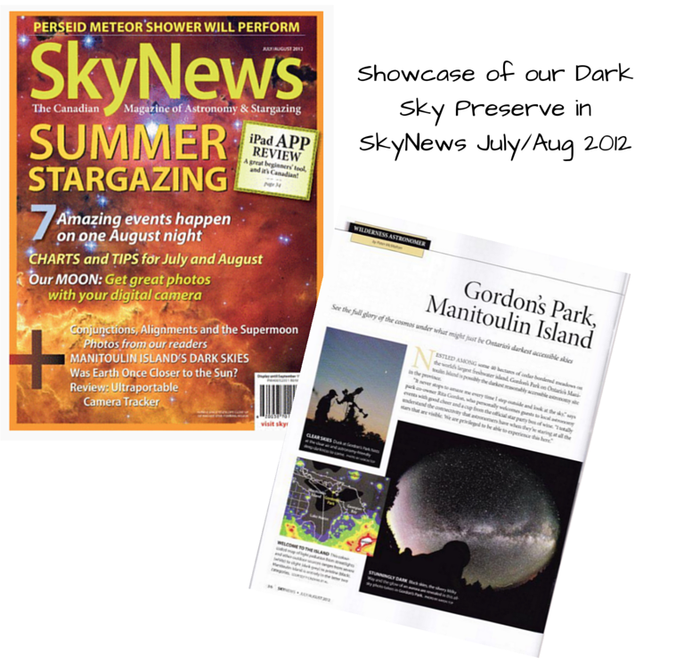 Dark Sky Preserve, SkyNews, media, Manitoulin Island, Astronomy, Aurora Borealis
