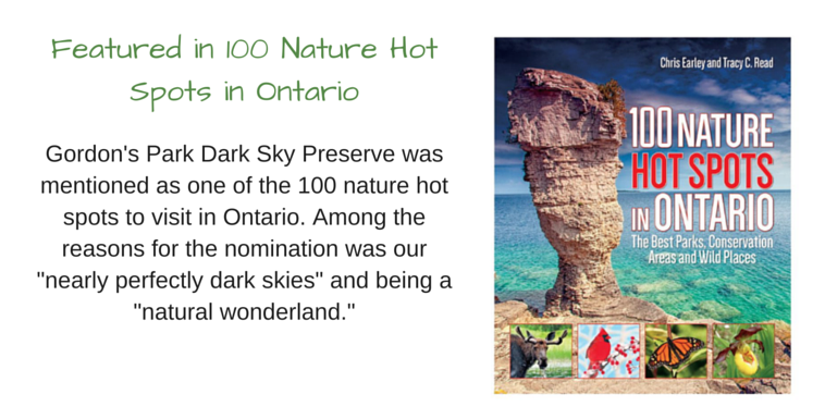 Nature Hot Spots in Ontario, Manitoulin Island, media, Gordon's Park Dark Sky Preserve